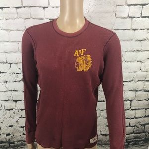 Mens vintage Abercrombie & Fitch Henley T-Shirt